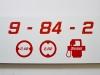 Rückseite-Sonderformat - Schild Funkrufname - design112 Fahrzeugidentschild